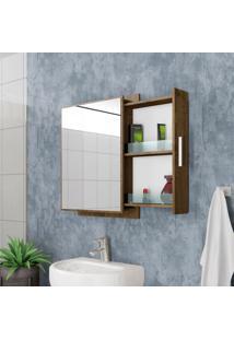 Armário Para Banheiro Napoli Madeira Rústica