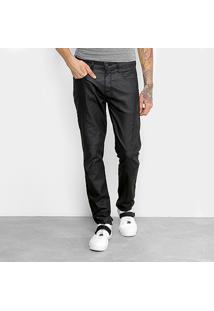 Calça Jeans Skinny Triton Resinada Masculino - Masculino-Preto