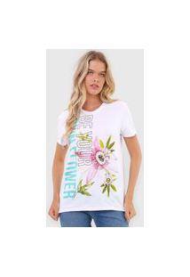 Blusa Calvin Klein Jeans Flor Branca