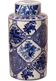 Vaso Decorativo De Porcelana Floral