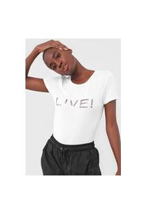 Camiseta Live! Logo Branca