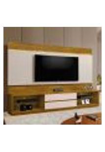 Rack Com Painel Para Tv Até 65 Polegadas Istambul Mel E Off White 240 Cm