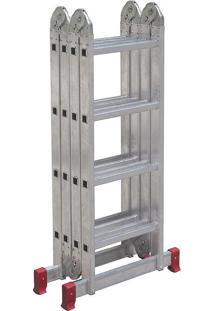 Escada De Alumínio Botafogo Articulada, 4X4 Degraus - Esc0293