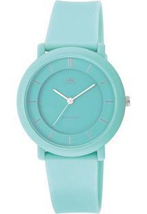 Relógio Qq De Pulso Analógico Vq94J008Y Feminino - Feminino-Azul
