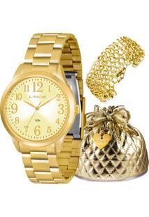 Kit Relógio Lince Feminino Lrg4262Lk073C2Kx