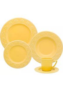 Aparelho De Jantar 20 Peças Mendi Sicilia - Oxford - Amarelo