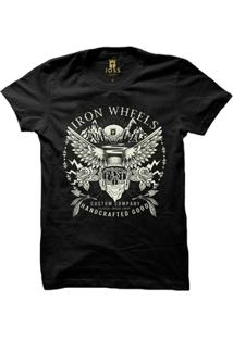 Camiseta Joss Estampada Iron Wheels Masculina - Masculino