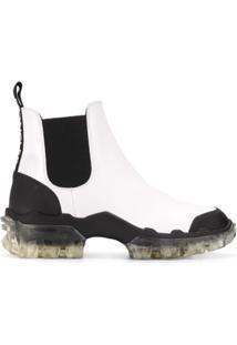 Moncler Ankle Boot De Couro - Branco