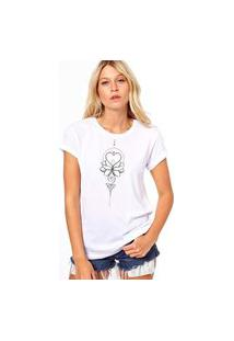 Camiseta Coolest Mandala Coraçao Branco