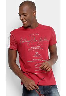 Camiseta Gangster Nothing Else Matters Masculina - Masculino-Vermelho