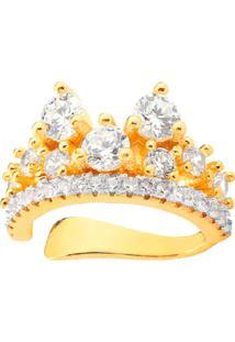Brinco Piercing Lady Cristais Banhado A Ouro 18K - Kanui