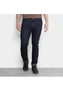 Calça Jeans Slim Triton Gilson Masculina - Masculino-Azul Escuro