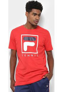 Camiseta Fila Soft Urban Masculina - Masculino-Vermelho+Branco