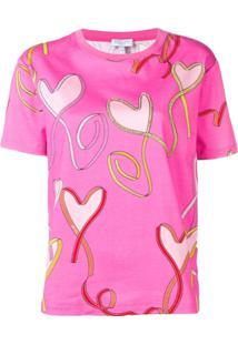 Escada Sport Camiseta Com Estampa Gráfica - Rosa