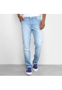 Calça Jeans Skinny Coca-Cola New Estonada Masculina - Masculino-Azul