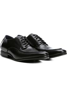 Sapato Social Couro Walkabout Clássico Derby Vesúvio Masculino - Masculino-Preto