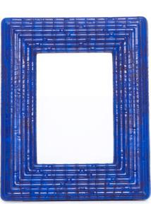 Porta Retrato Poliuretano - Azul