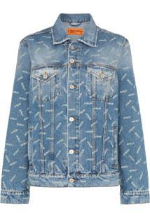 Heron Preston Vestido Jeans Com Estampa Ctnmb - Azul