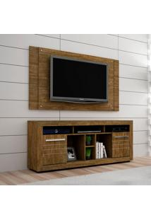 Rack Com Painel Extensível Para Tv 46 Polegadas Firenze Ipê 180 Cm