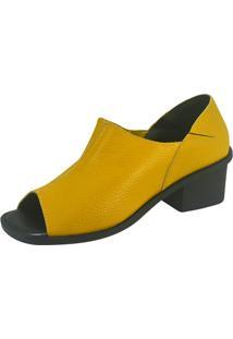 Sandália S2 Shoes Luciana Couro Amarelo