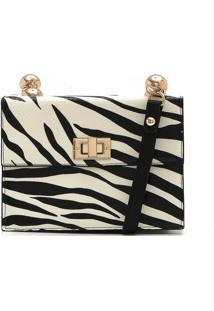 Bolsa Couro Jorge Bischoff Zebra Off-White