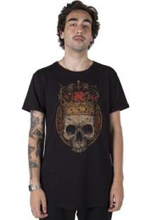 Camiseta Longline Stoned King Skull Masculina - Masculino