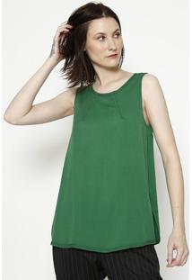 Blusa Com Pespontos - Verde - Colccicolcci