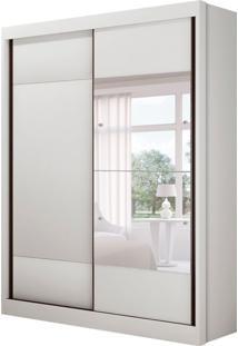 Guarda-Roupa Solteiro Com Espelho Falco Gold 2 Pt Branco