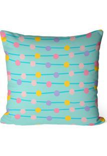 Almofada Avulsa Decorativa Bolinhas Coloridas