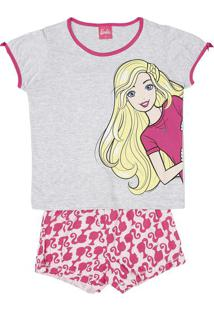 Short Doll Barbie ®- Cinza & Rosaevanilda
