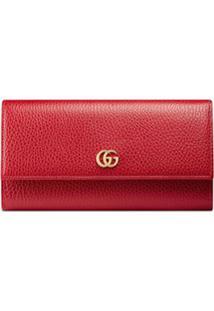 Gucci Carteira 'Continental' De Couro - Vermelho