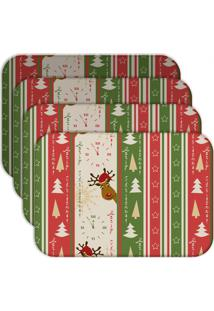 Jogo Americano - Love Decor Merry Christmas Kit Com 4 Peças