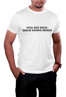 Camiseta Hunter Segue O Jogo Branca