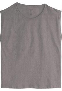 Blusa Cinza Escuro Muscle Feminina