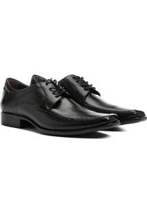 Sapato Social Couro Democrata Hampton - Masculino-Preto