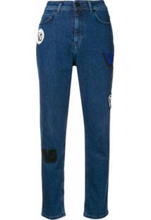 Versace Jeans Couture Calça Jeans Reta - Azul