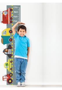 Adesivo De Parede Quartinhos Infantil Régua Carros Colorido
