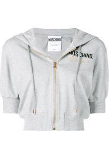 Moschino Blusa De Moletom Com Bordado 'Couture' - Cinza