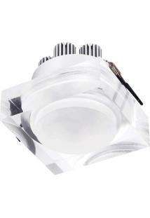 Spot Led Embutir De Acrílico 7,5Cmx9Cmx9Cm Bella Iluminação 1X6W - Caixa Com 3 Unidade - Transparente