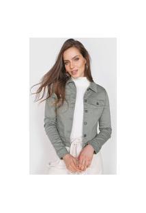Jaqueta Sarja Vero Moda Bolsos Verde
