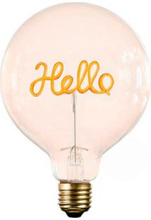 Lâmpada Decorativa Para Abajur Hello Luz Amarela