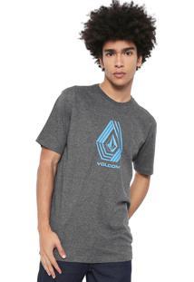 Camiseta Volcom Silk Cycle Stone Cinza