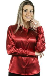 Camisa Pimenta Rosada Albertina - Feminino-Vermelho