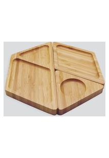 Amaro Feminino Oikos Petisqueira Hexagonal Desmontável, Bambu