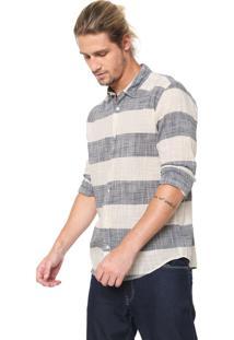 Camisa Reserva Reta Listras Off-White