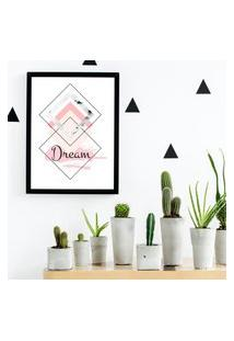 Quadro Decorativo Com Moldura Dream Preto - 20X25Cm