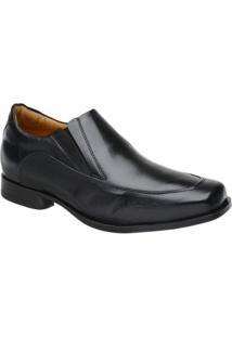 Sapato Casual Couro Doctor Pé Masculino - Masculino-Preto