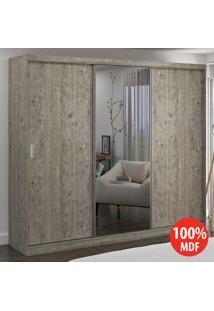 Guarda Roupa 3 Portas Com 1 Espelho 100% Mdf 774E1 Demolição - Foscarini