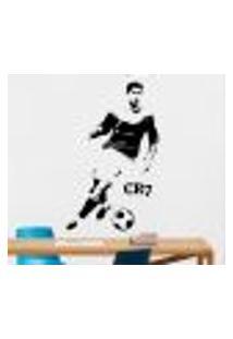 Adesivo De Parede Cristiano Ronaldo Cr7 - M 90X58Cm