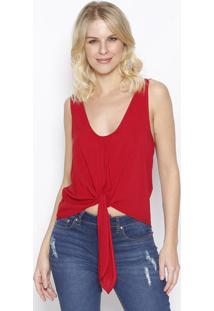 Blusa Lisa Com Amarraã§Ã£O- Vermelha- Sommersommer